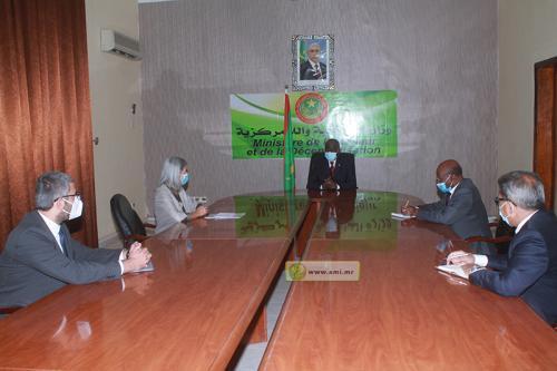 Le ministre de l'Intérieur reçoit la Représentante résidente de l'UNHCR