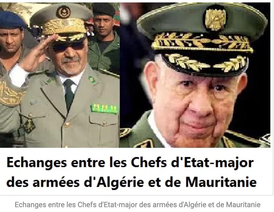 Echanges entre les Patrons des armées d'Algérie et de Mauritanie