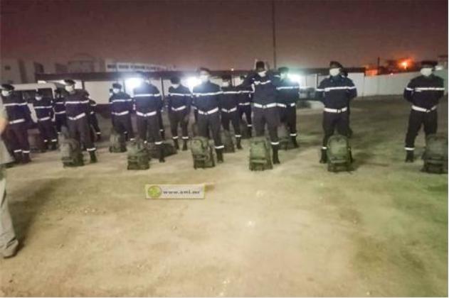 Départ d'un contingent de la DGSCGC pour le Maroc