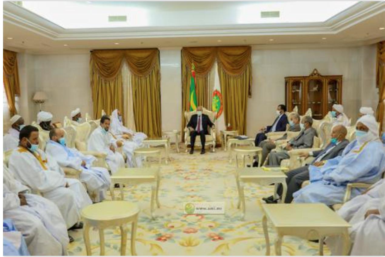 Le Président de la République reçoit le bureau exécutif de l'Association des Ulémas mauritaniens