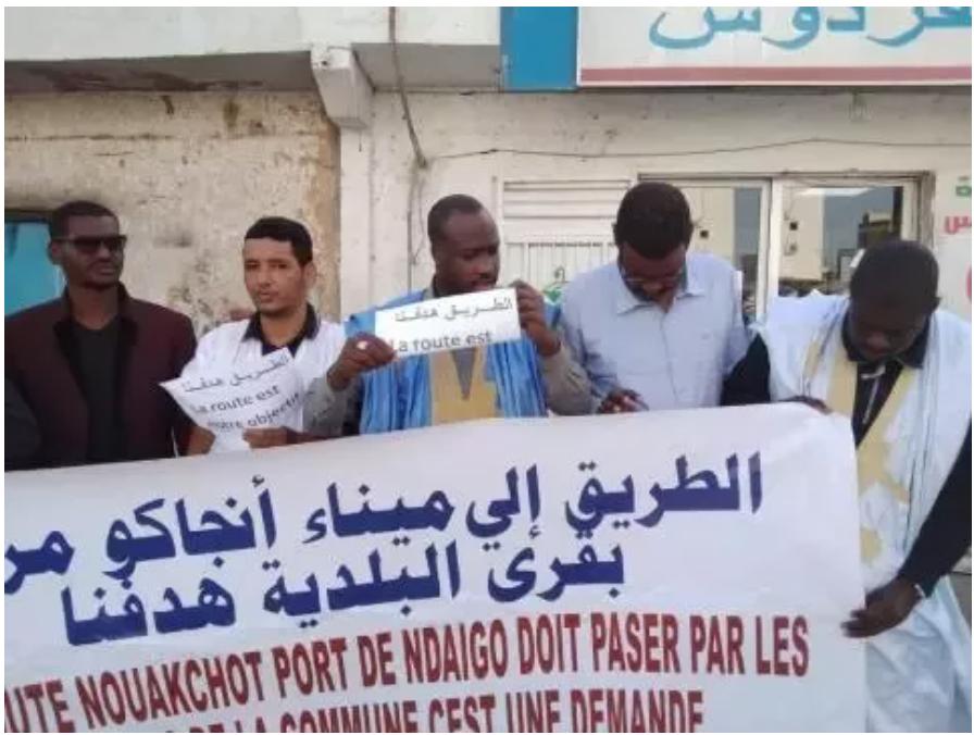 Un sit-in appelant à désenclaver les villages de Keur-Macene et N'Diago