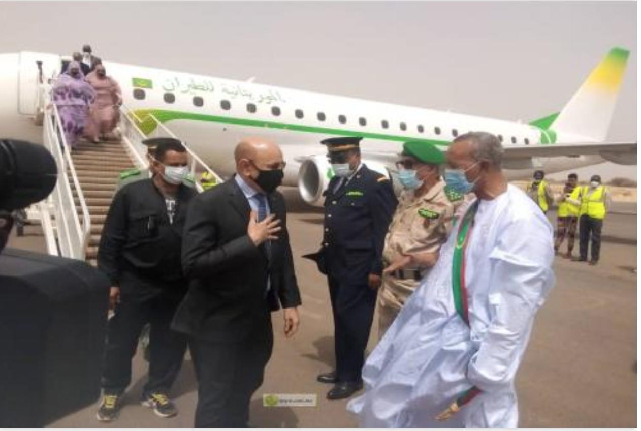 Le Président de la République arrive à Néma