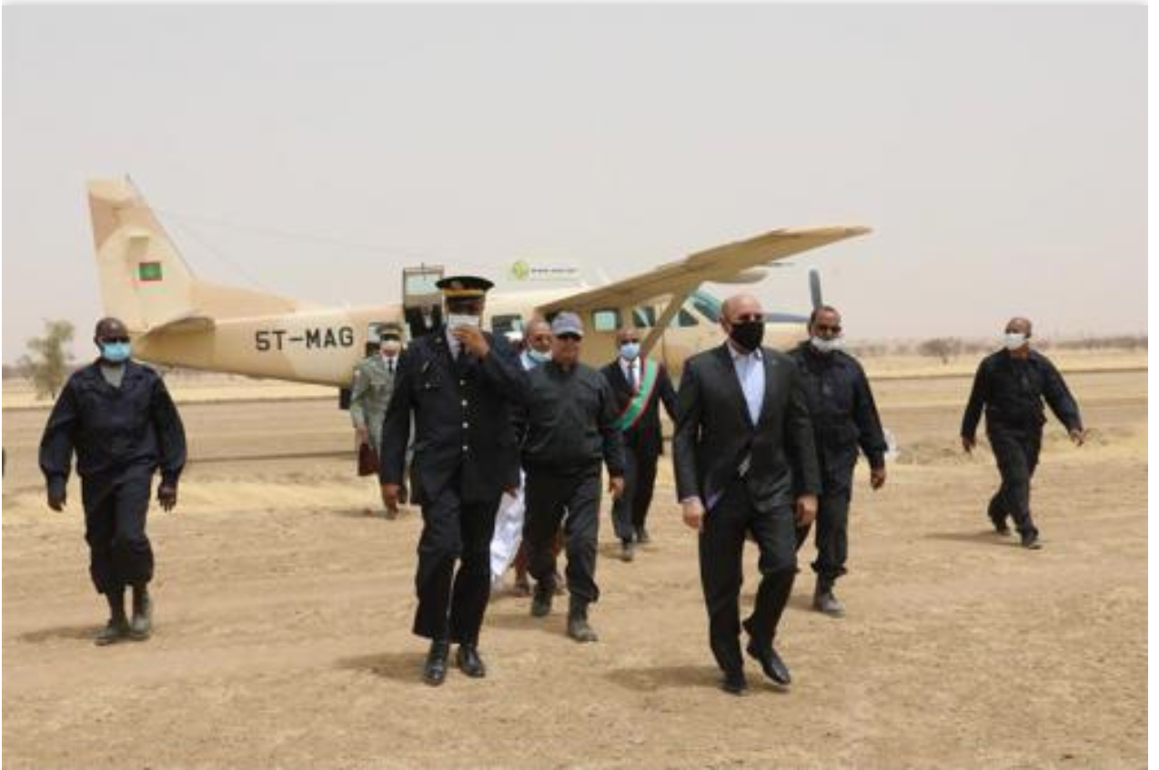 Le Président de la République arrive à Timbédra