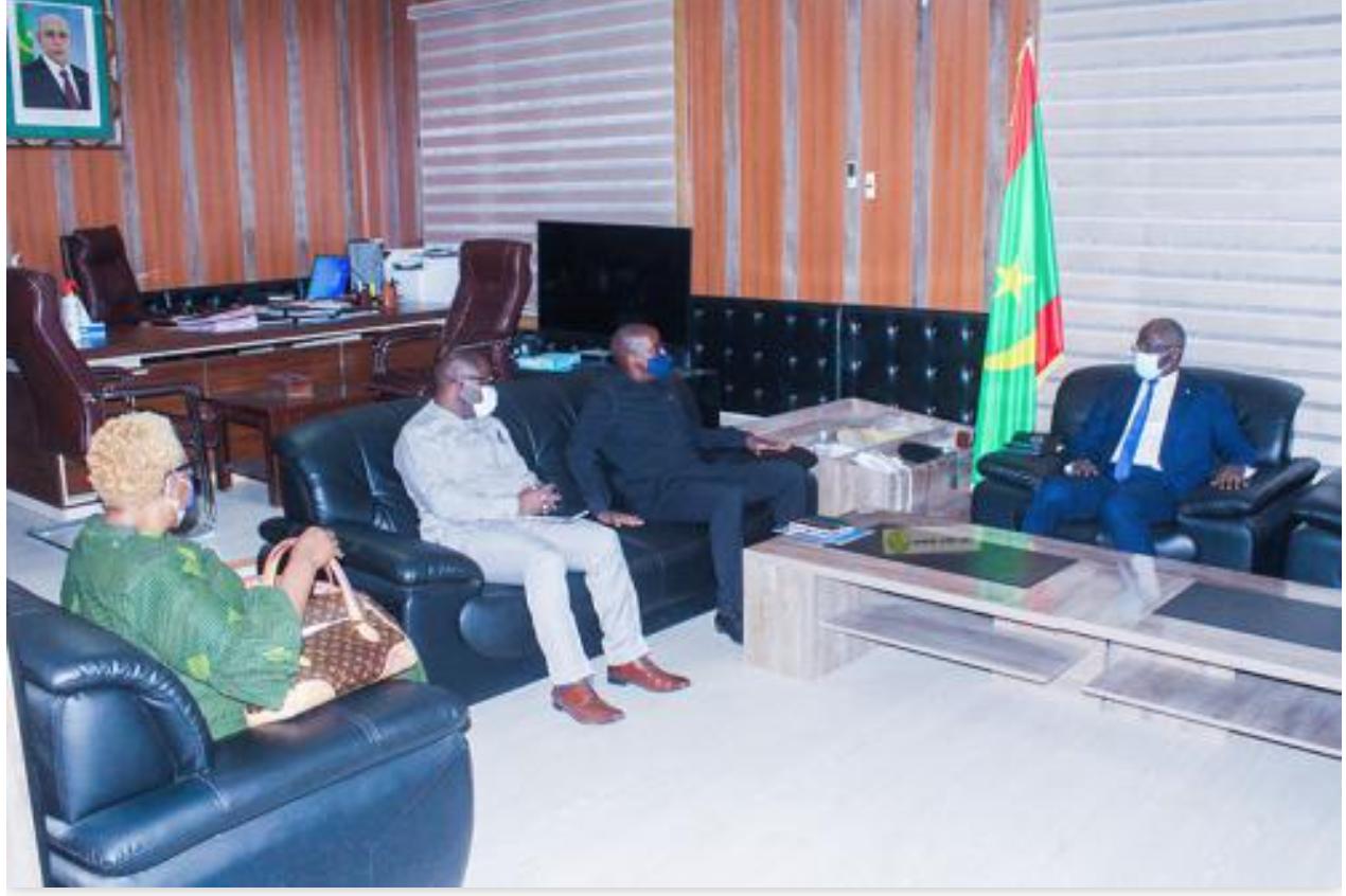 Le ministre de l'intérieur s'entretient avec une mission du bureau régional du PNUD pour l'Afrique de l'Ouest et Centrale