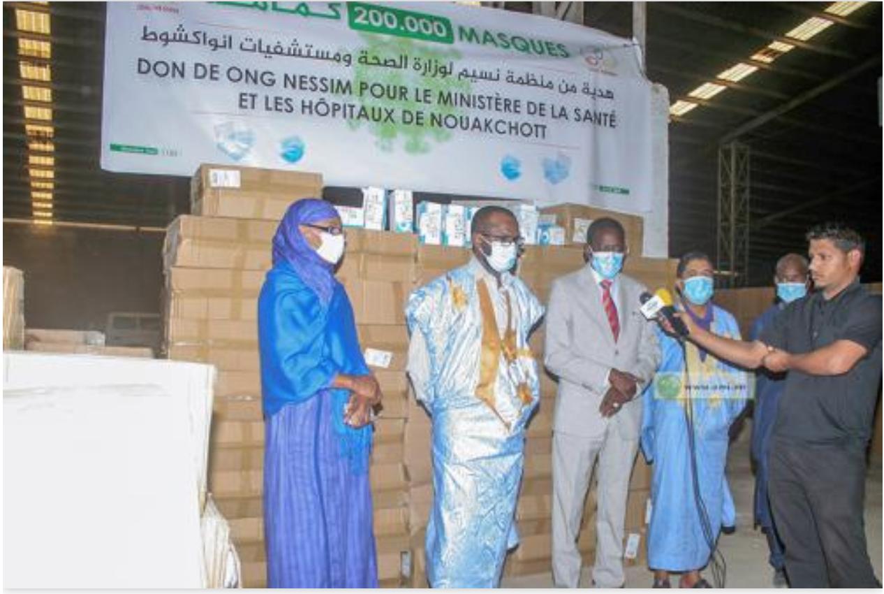 L'ONG «Nessim» fait don d'une importante quantité de masques au ministère de la Santé