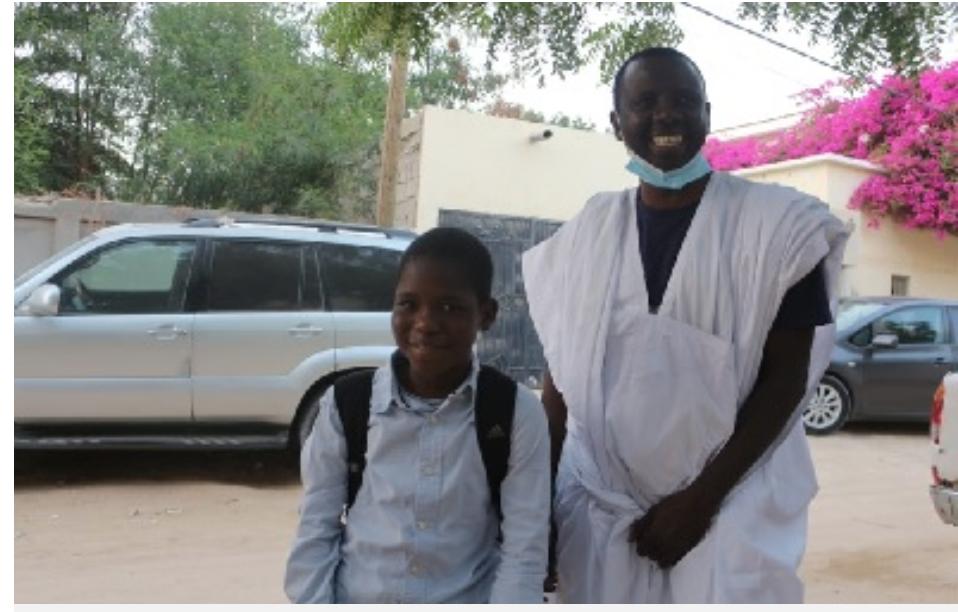 Retour à Nouakchott de l'enfant Brahim M'bay évacué en France, pour traitement de pathologie cardiaque