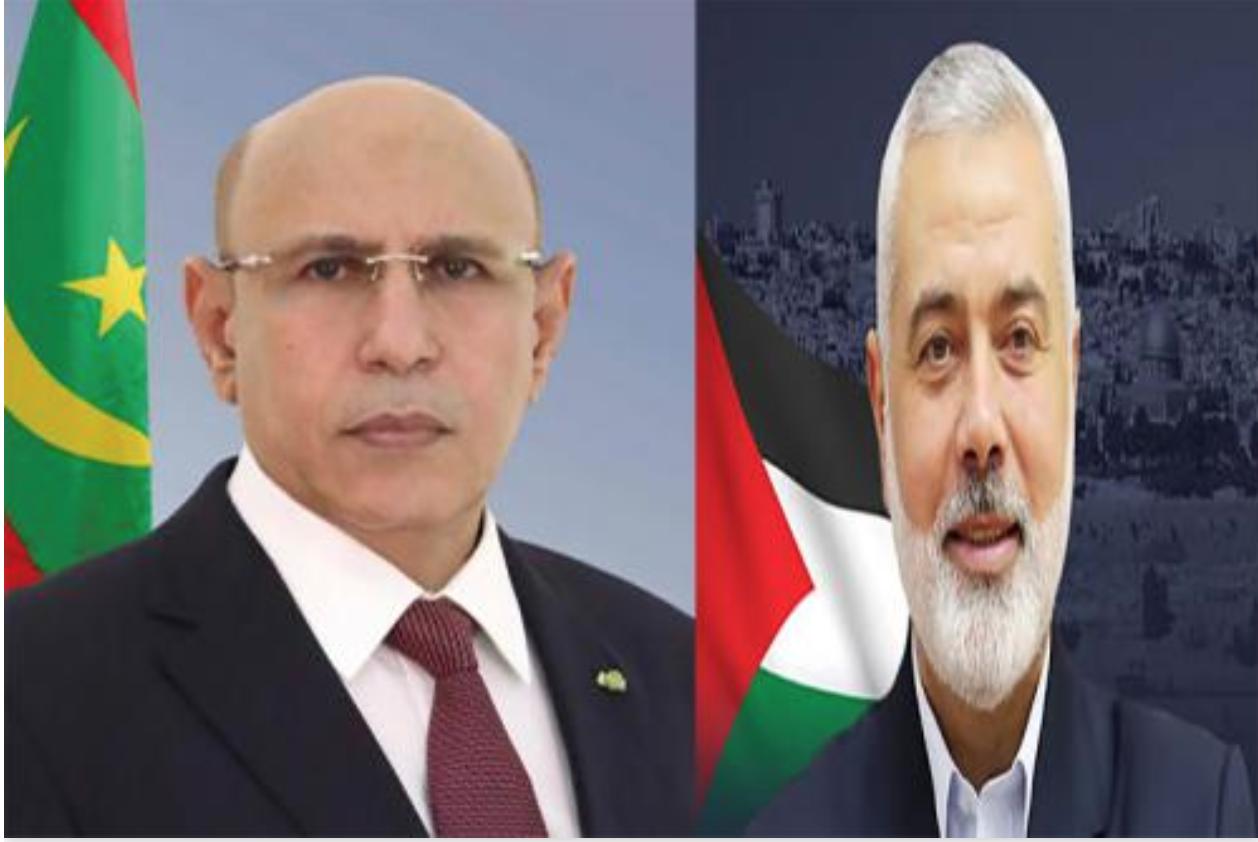 Le président de la République reçoit un appel téléphonique du chef du bureau politique du Hamas
