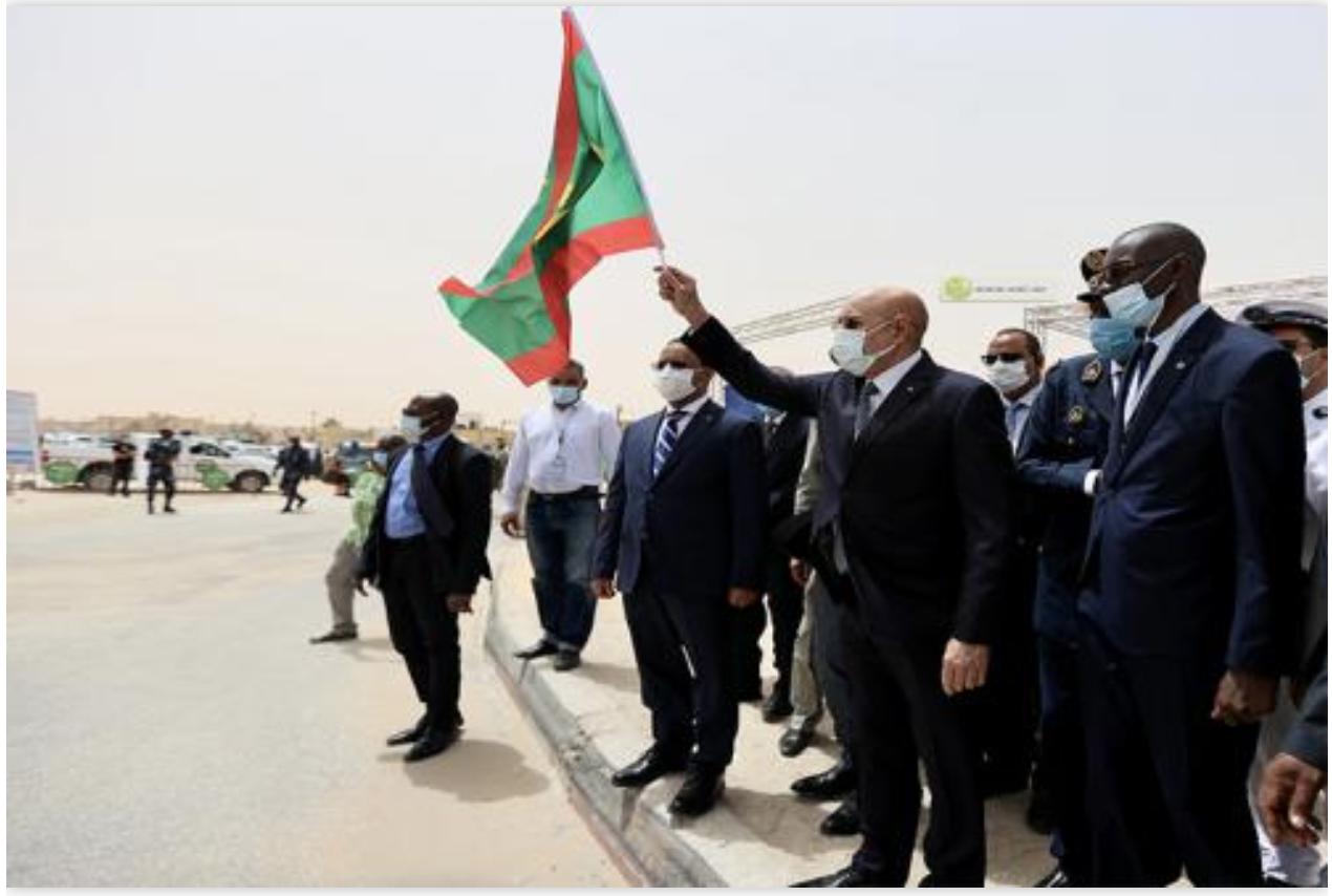 Le Président de la République supervise la pose de la 1ère pierre de deux échangeurs et l'extension du réseau routier urbain de Nouakchott