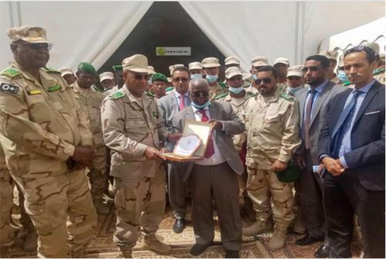 Les membres de 37e promotion d'élèves officiers de l'EMIA d'Atar visitent l'autorité de la zone franche de Nouadhibou