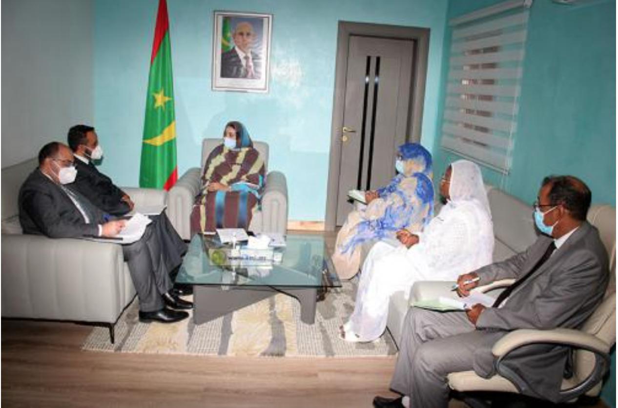 La ministre de l'Action sociale reçoit l'ambassadeur d'Égypte