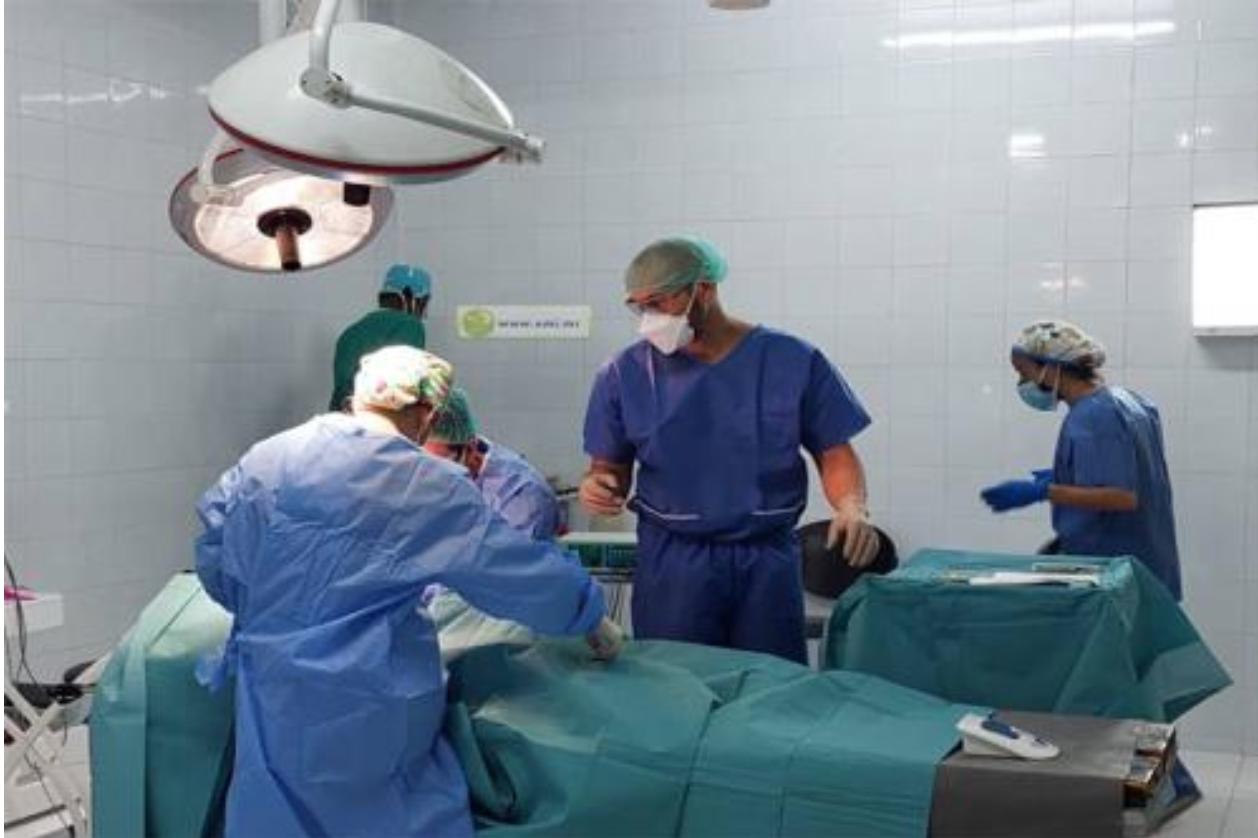Une mission médicale espagnole effectue des interventions chirurgicales