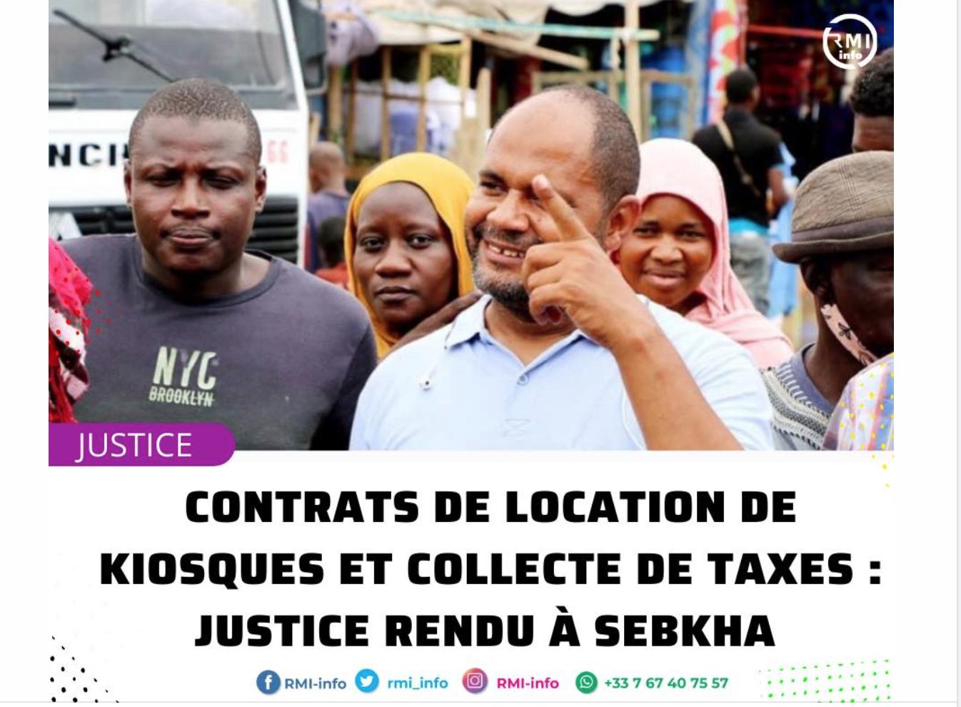 Contrats de location de kiosques et collecte de taxes : justice rendue à Sebkha