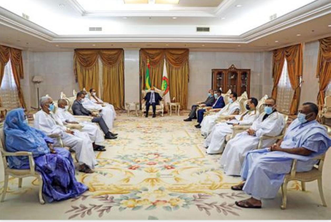 Le Président de la République reçoit les députés de l'UPR de l'Assaba