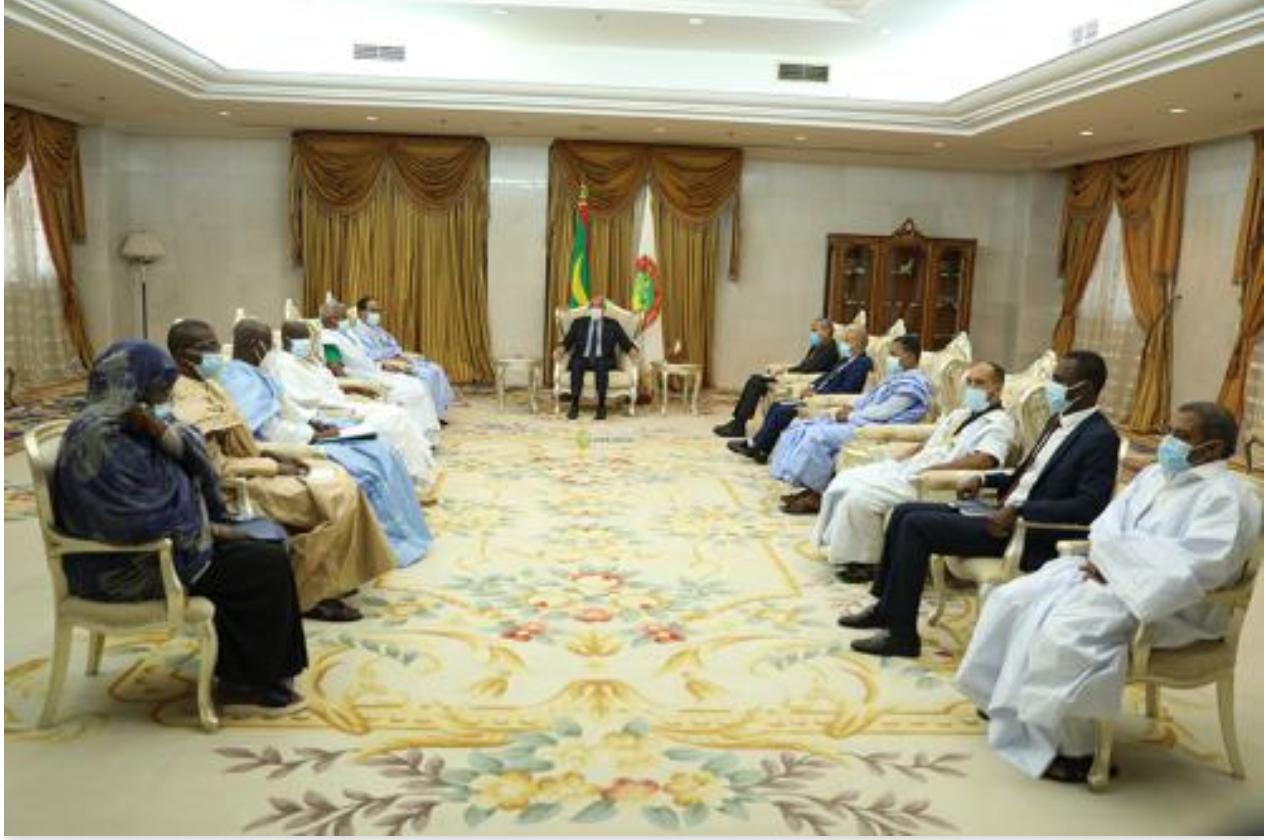 Le Président de la République reçoit les députés de l'UPR du Brakna