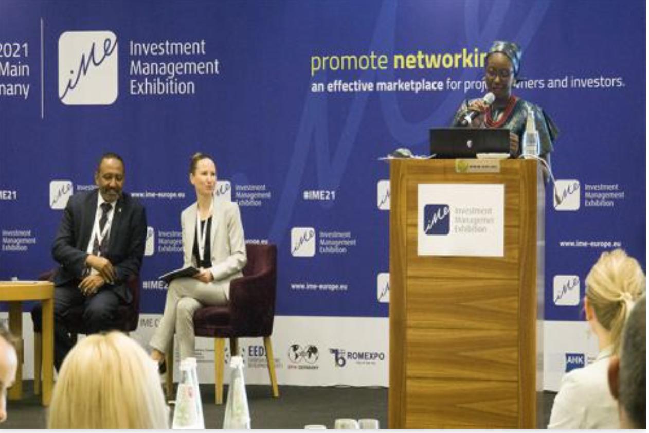 La dg de l'APIM à Frankfurt pour l'Investment Management Exhibition (IME)