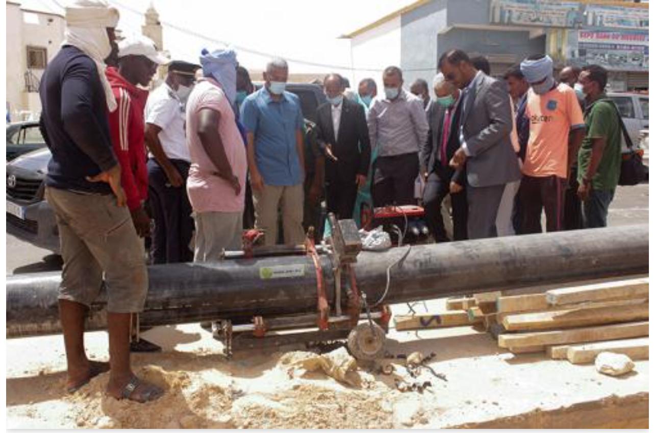 Le ministre de l'hydraulique visite les blocs 6 et 10 du réseau d'extension de Nouakchott