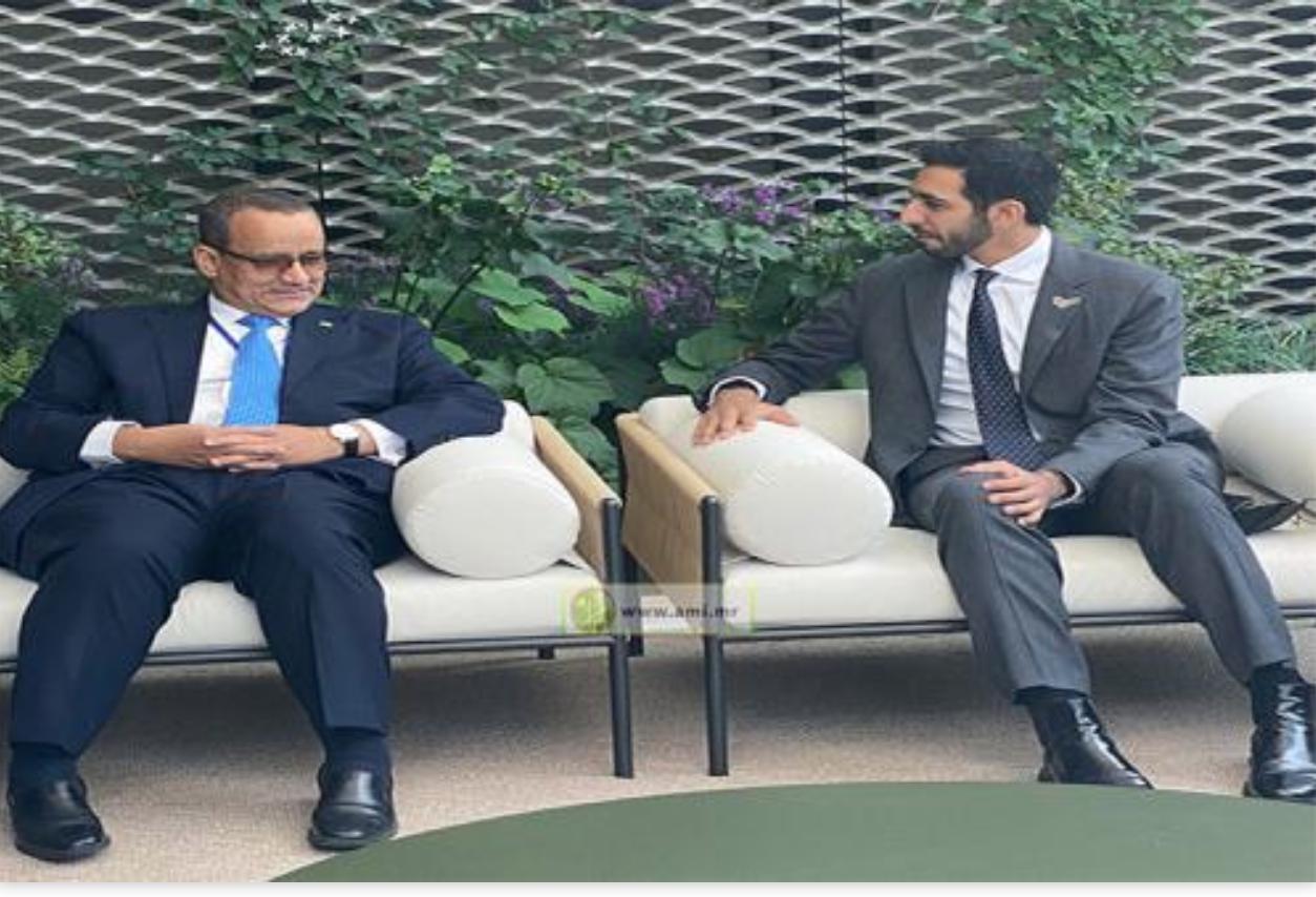 Le ministre des Affaires étrangères s'entretient avec le ministre d'État émirati des Affaires étrangères