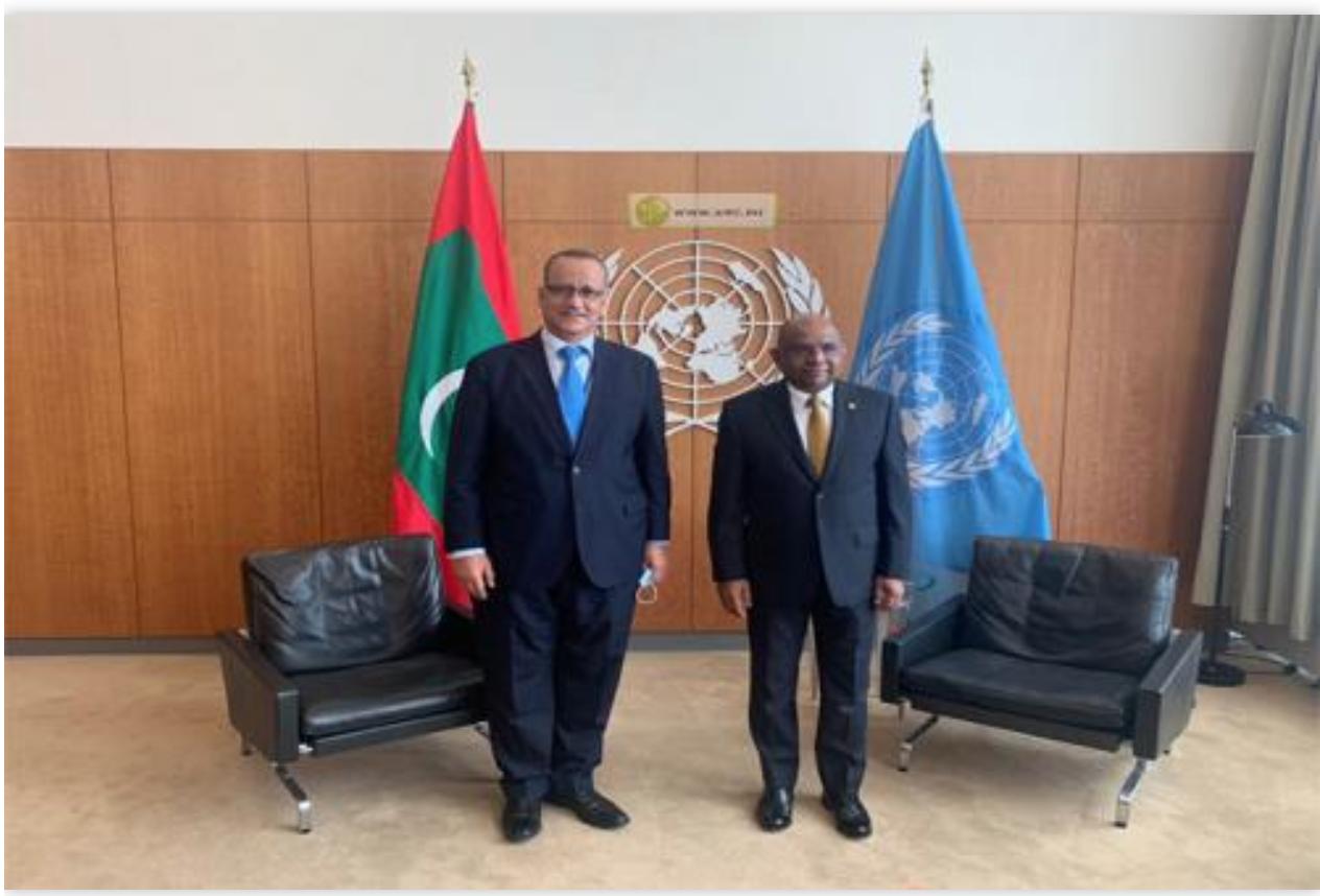 Le ministre des Affaires étrangères s'entretient avec l'actuel président de l'Assemblée générale des Nations Unies
