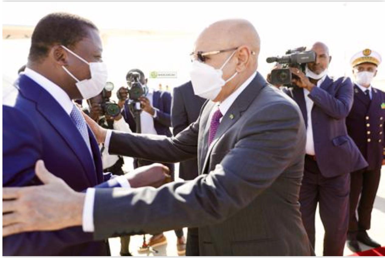 Arrivée à Nouakchott du Président togolais
