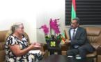 Le ministre du Développement rural reçoit la chargée d'affaires de l'ambassade d'Allemagne