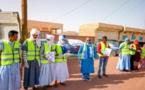 Aioun: l'association nationale d'assistance aux orphelins et aux handicapés distribue des quantités de produits d'hygiène