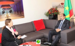 Le Président de la République reçoit la présidente de la mission interparlementaire UE-Maghreb