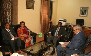 Le Ministre de l'Environnement et du Développement Durable reçoit Commissaire chargée de l'Economie Rurale et de l'Agriculture de l'Union Africaine