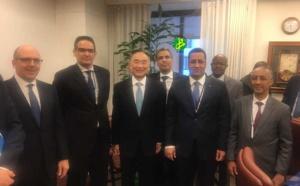 La délégation mauritanienne aux réunions du Groupe de la BM et du FMI se réunit avec le directeur général adjoint du FMI