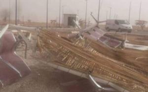 La tempête détruit le point de passage entre l'Algérie et la Mauritanie
