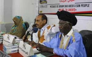 Cérémonie de présentation de « Biram Dah Abeïd Ma vie, Ta liberté pour un pacte de la Renaissance ; la grande promesse de l'automne politique arc-en-ciel mauritanien»