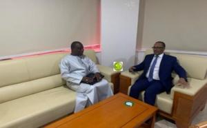 Le président de l'union du patronat mauritanien reçoit l'ambassadeur de Gambie