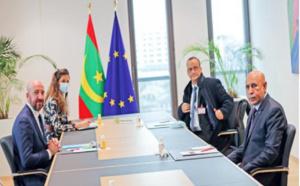 Le Président de la République s'entretient avec le Président du Conseil de l'Europe