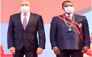 Le président de la République assiste à la cérémonie d'investiture du Président congolais