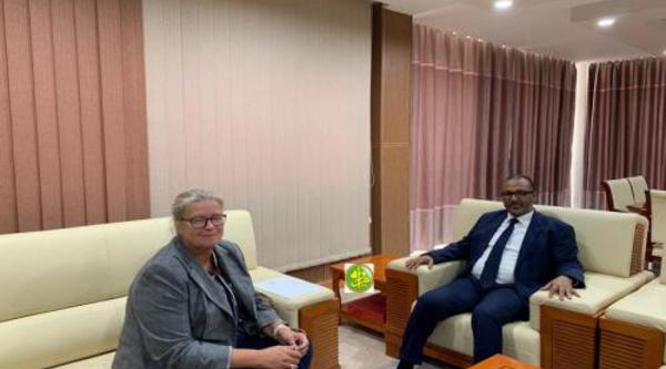 Le président de l'Union Nationale du Patronat Mauritanien reçoit la chargée d'Affaires de l'ambassade d'Allemagne